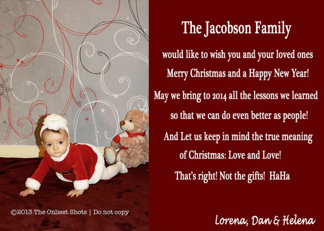 Our family Card!