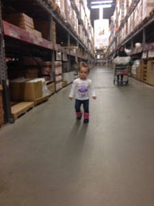 Looking for her bed at Ikea