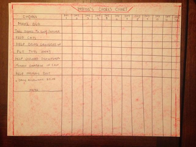 Helena' Chores Chart